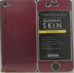 Handy - Zubehöre, Iphone 4 Alu metall Cover Rot
